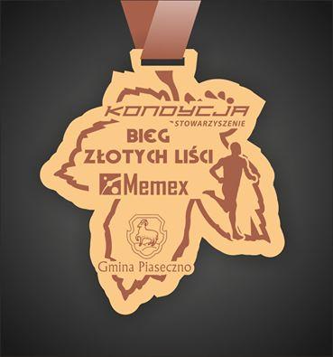 Pamiątkowy medal - Bieg Złotych Liści