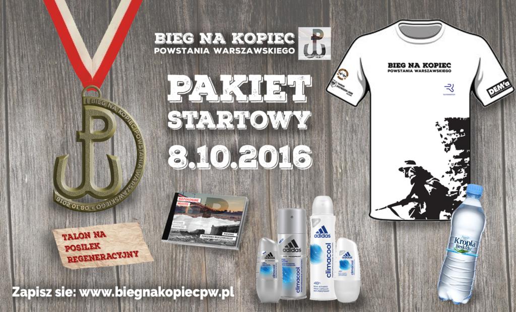 pakiet startowy Bieg na Kopiec Powstania Warszawskiego