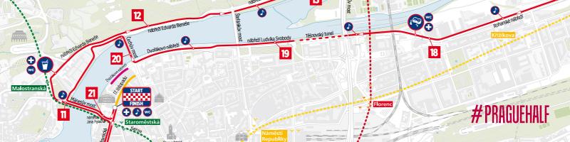 Trasa Półmaraton Praga - Zabiegane.com