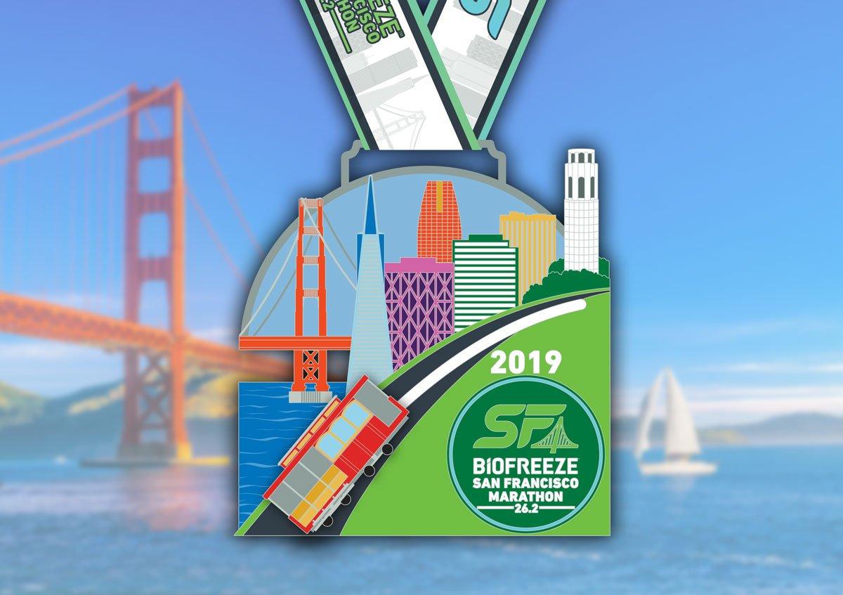 medal San Francisco Marathon