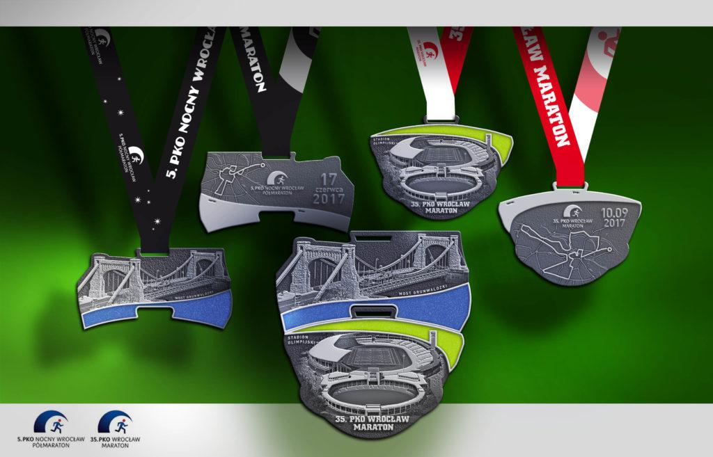 Medal 5 PKO Nocny Wrocław Półmaraton